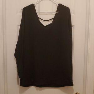 Torrid black sweater with wings
